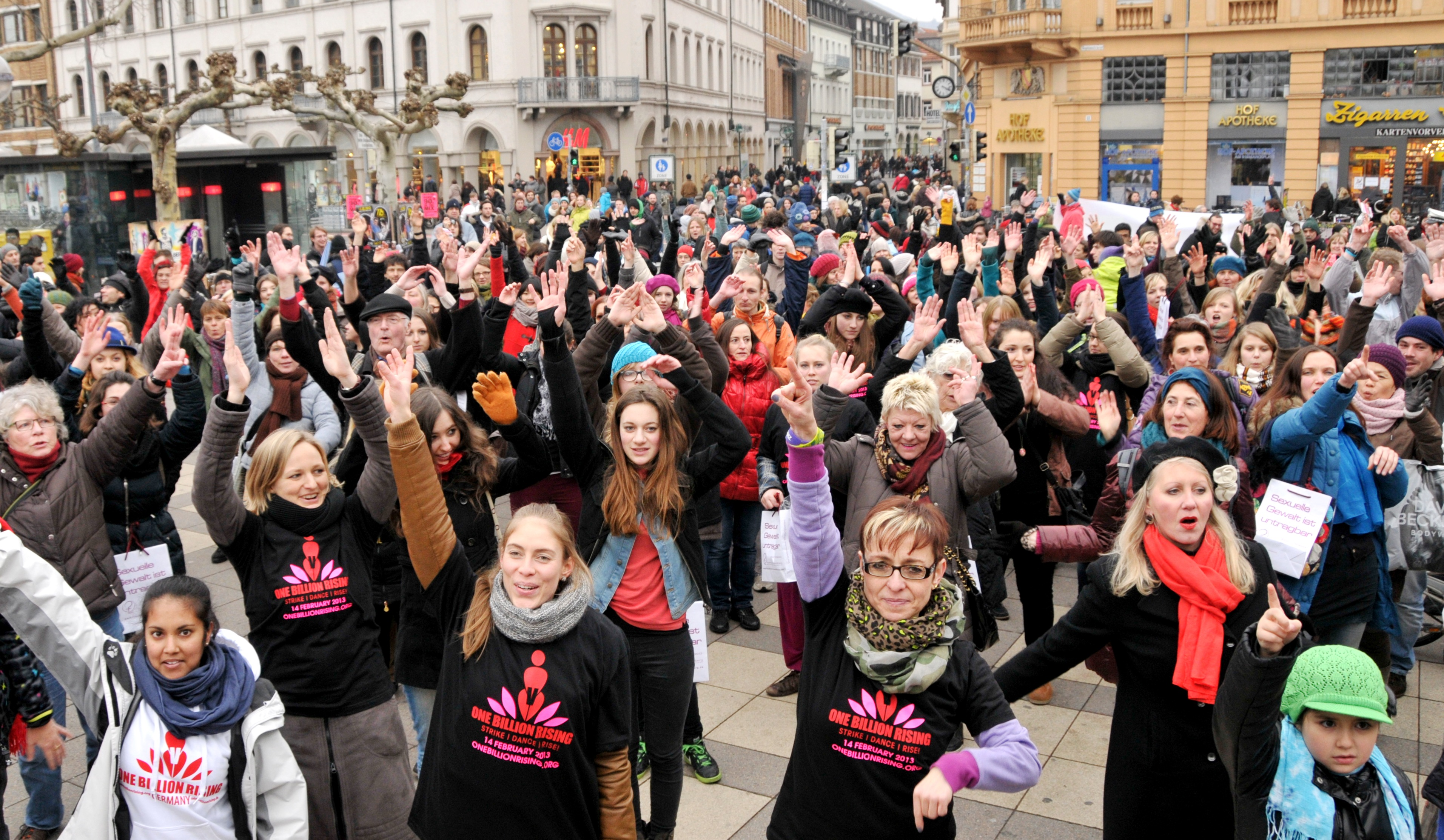 One Billion Rising Heidelberg - Bismarckplatz